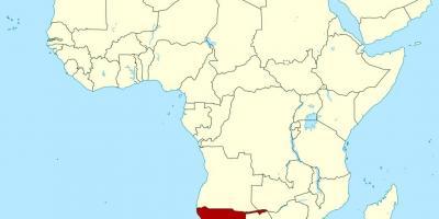 Namibia Hartă Hărți Namibia Africa De Sud Africa